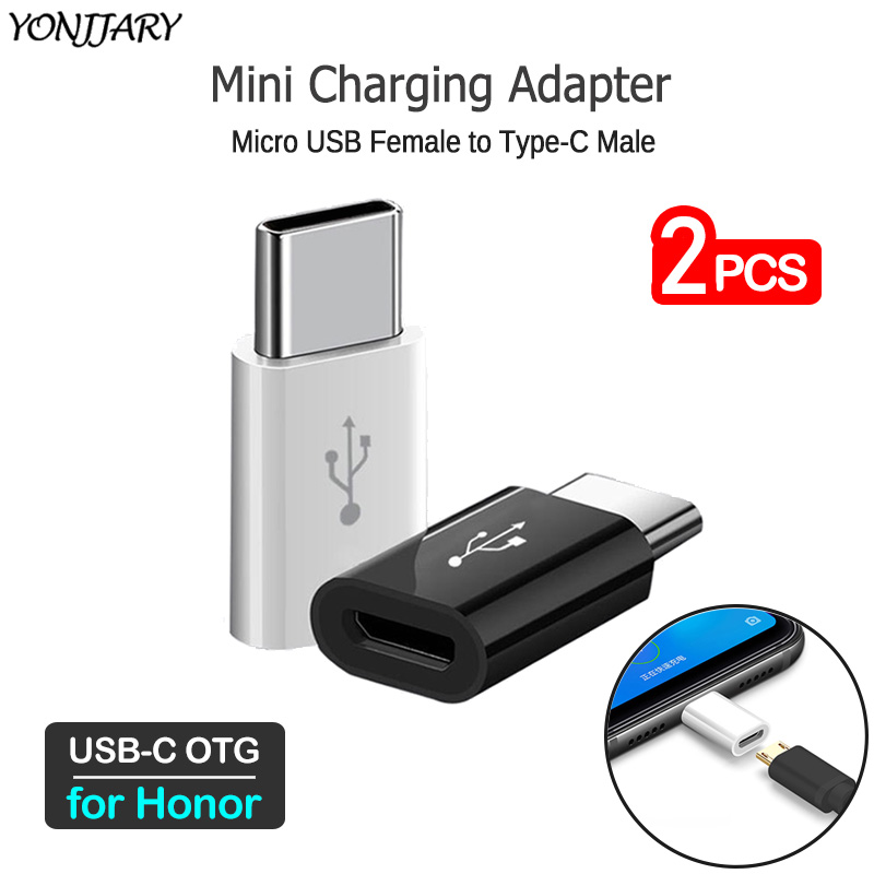 2Pcs USB C To Micro Charging Converter For Huawei Honor 30 20 10 9 9X Pro 20S 30S V20 V30 Pro Play Phone Type-C OTG Adapter