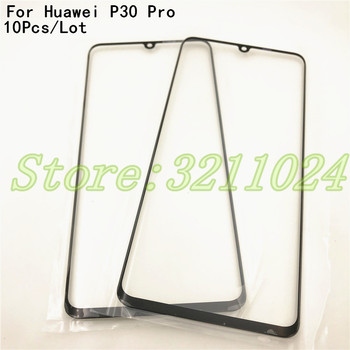 10Pcs/Lot New Front Glass Lens For Huawei P30 Pro VOG-L04 VOG-L09 VOG-L29 touch screen external glass panel replacement parts