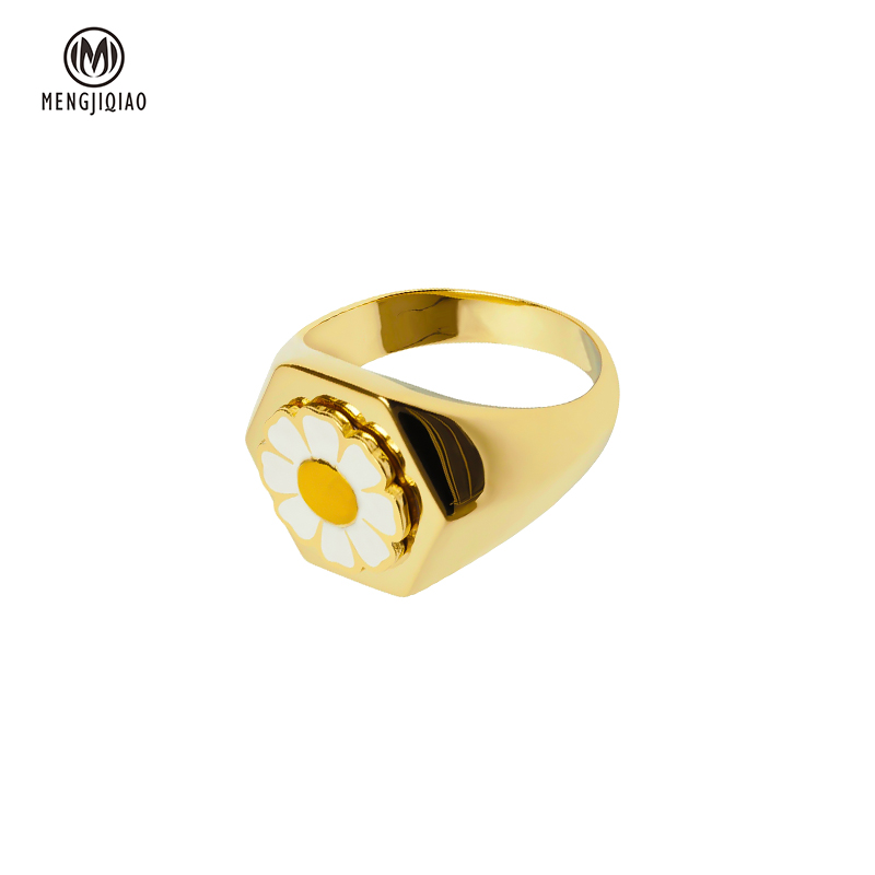 Женское колье с желтым цветком mengjiqiao желтая металлическая