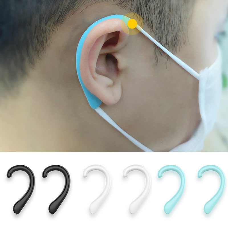Universal Mask Reusable Ear Hook Suitable For Face Mask Prevent Ear Pain Soft Silicone Invisible Earmuffs Ear Protection