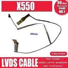 O Envio gratuito de new X550 LVDS CABO de For Asus X550 X550C X550CC X550VC X550VB X550CL Y581C X552C A550C K550C F550C 40p para 40p