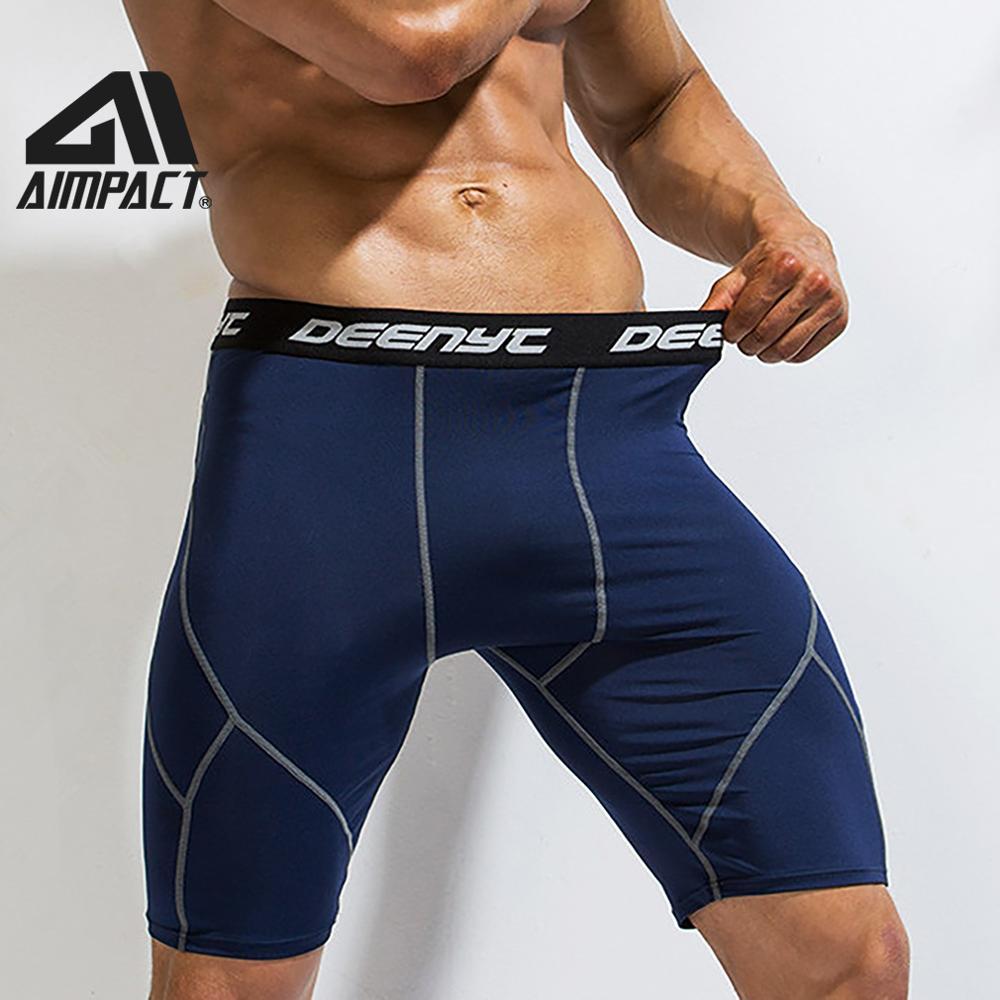 Mens Workout Compression Short Pants Running Gym   Sports Compression Shorts US