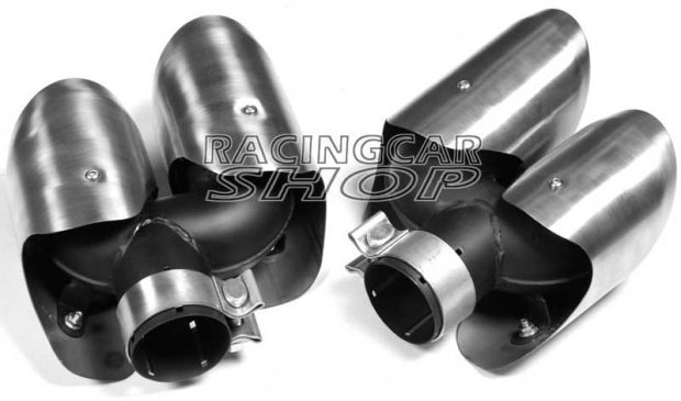 Stainless Steel Exhaust Pipe Dual Muffler 4Tips A Pair for Porsche Macan 2014UP T055W 2