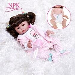47 см новорожденный NPK новый корпус полный реалистичный силикон малыш младенец новорожденный нианский купальник непроницаемый