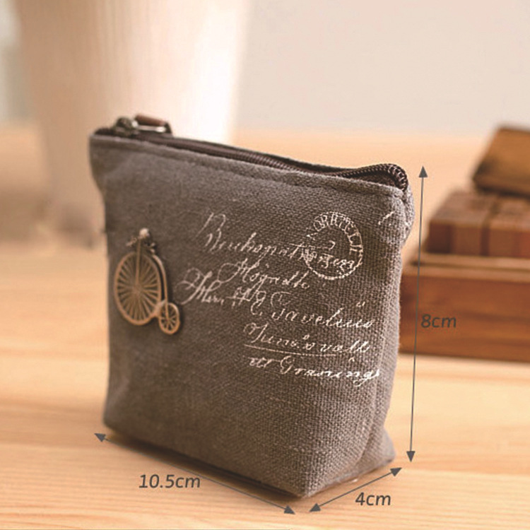 New Style Classic Purse Nostalgic Canvas Key Case Korean-style Women's Carrying Coin Bag