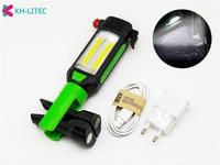 Magnetische Auto Reparatur Arbeits Licht COB LED Taschenlampe USB Lade Tragbare Lampe für Camping Klettern Jagd