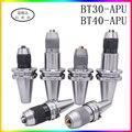 BT30 BT40 сверлильный патрон для конических фрез BT30 BT40 APU08 APU13 APU16 для конических фрез-затяжка сверла зажим с высокой точностью 0,08 мм держатель ин...
