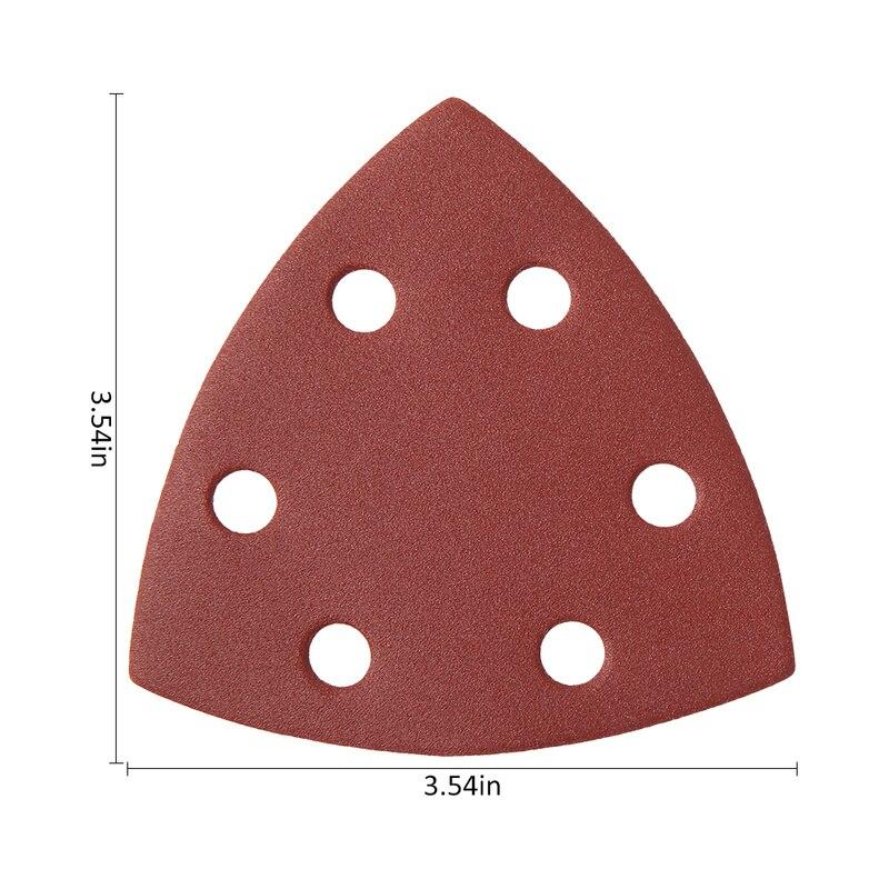 Image 5 - 120pcs Self adhesive Sandpaper Triangle Delta Sander Sand Paper Hook Loop Sandpaper Disc Abrasive Tool for Polishing Grit 40 240-in Abrasive Tools from Tools