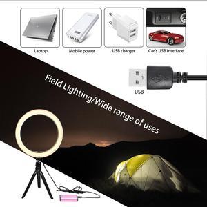 Image 5 - Fosoto 16/26cm תאורת צילום 3200K 5500K Dimmable Led טבעת אור מנורת תמונה סטודיו טלפון וידאו יופי איפור עם חצובה