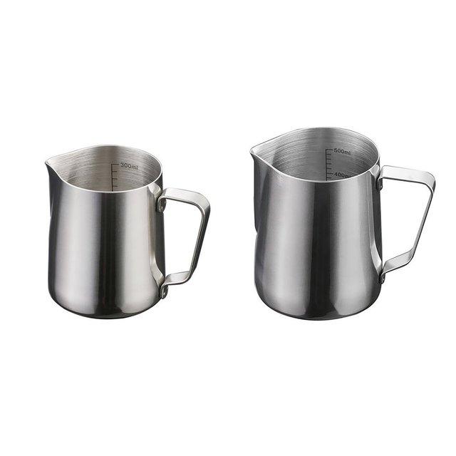 Balance intérieure en acier inoxydable tirer fleur tasse à café mousseur à lait professionnel mousseur à lait en acier inoxydable