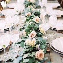 1 Uds de seda verde artificial hojas de eucalipto DIY decoración de boda con guirnaldas de novia Decoración de cumpleaños ramillete de decoración para hogar
