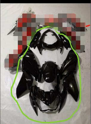 Motorcycle Fairings  Cover For  Z800 2013 2014 2015 2016  FIT Z800 Black Glossy As Photos Mark  Good Quality ABS ZXMT