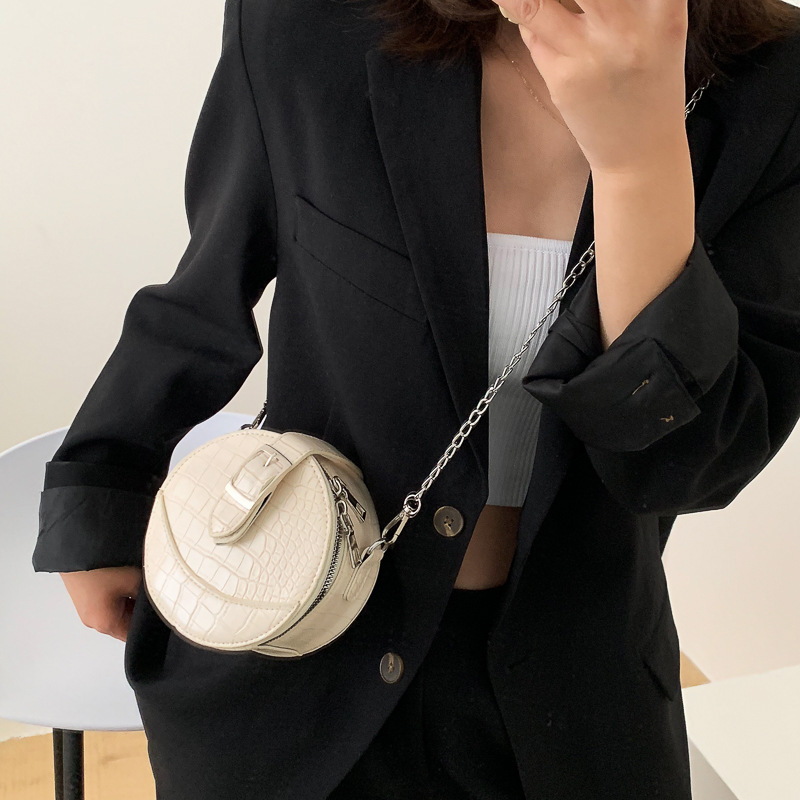 Small Round Bag 2021 Fashion New Chain Messenger Bag Versatile Women's Bags One Shoulder Small Round Bags