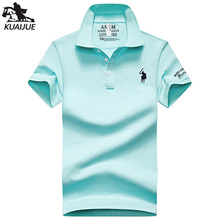 polo shirt men summer new high quality mens Short sleeve Solid color embroidery Top youth Business casual polo shirt M-4XL 8636