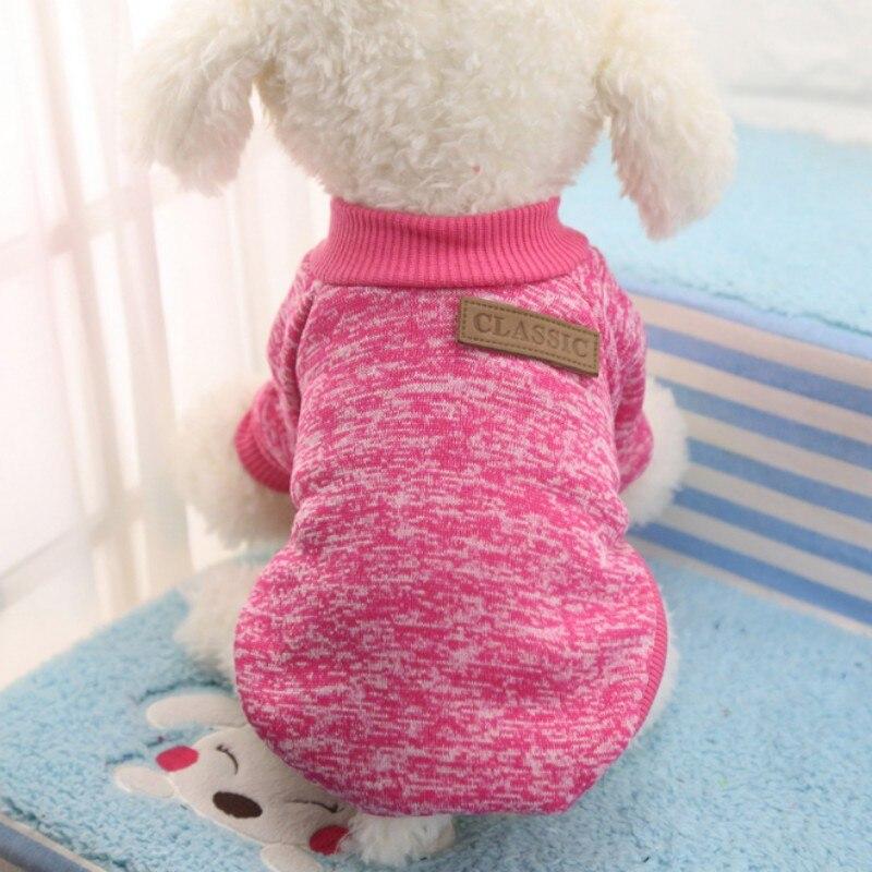 Одежда для собак, теплый свитер, мягкая куртка для чихуахуа, одежда для собак, одежда для щенков, куртка для собаки, зимняя одежда для маленьких собак - Цвет: Rose