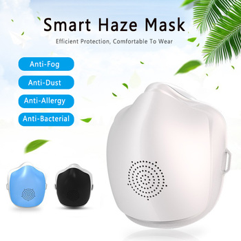 Smart Electric Face Mask Air Purifying Anti Dust Pollution Fresh Air Supply Filter Haze Silicone Seal Electric Fan Mask 1