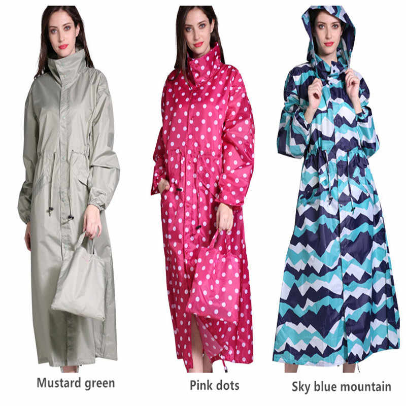 Lama Perjalanan Portable Jas Hujan Wanita Ponco Tahan Air Wanita Pullover Bernapas Mantel Hujan Chubasquero Mujer