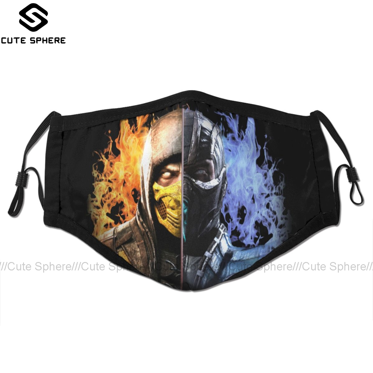 Sub Zero Mouth Face Mask Mortal Kombat X Facial Mask Funny Kawai With 2 Filters For Adult