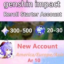 Genshin impacto starter conta comprar 3 obter 1 grátis hutao diluc keqing qiqi mona xiao venti ganyu europa/américa