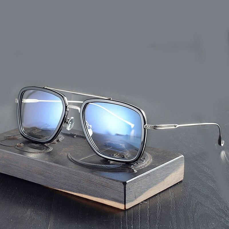 Square Eyeglasses Frames Flight 006 Men Avengers Jr Spider-Man Iron Man Glasses Tony Stark Eyeglasses Oversize Glasses Frames