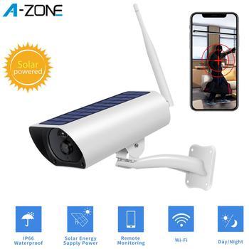 A-ZONE Solar Wifi Camera 1080P CCTV Outdoor Surveillance IP Camera Night Vision Waterproof Wireless Solar Power Security Camera 1
