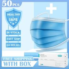 50/200 pzas máscaras para protección contra el polvo Mascarillas médicas mascarillas faciales desechables con lazo elástico para la oreja mascarilla de seguridad con filtro de polvo desechable