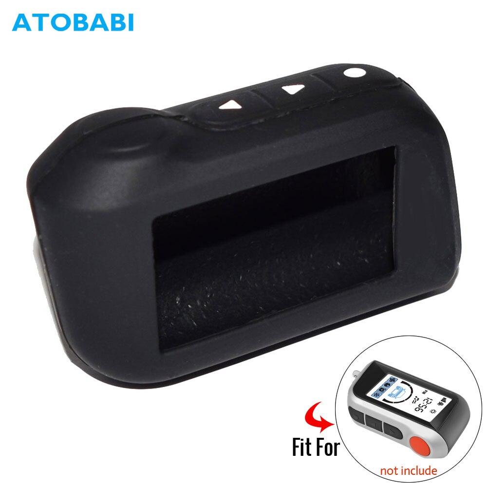 A93 étui à clés de voiture en Silicone pour Starline A39 A36 A63 A93 alarme de voiture bidirectionnelle LCD télécommande Fob couverture porte-clés protecteur peau