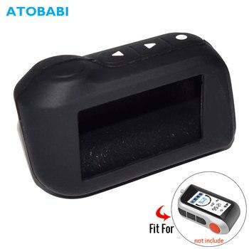 A93 funda de silicona para la llave del coche para Starline A39 A36 A63 A93 alarma de coche de dos vías LCD control remoto Fob Cover llavero Protector Skin