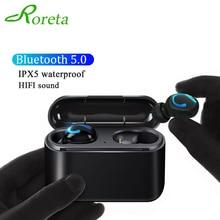 Roreta HBQ Q32 Draadloze Bluetooth Oortelefoon True 3D Stereo Oordopjes Headset Sport Handsfree Koptelefoon Met Microfoon Opladen Doos