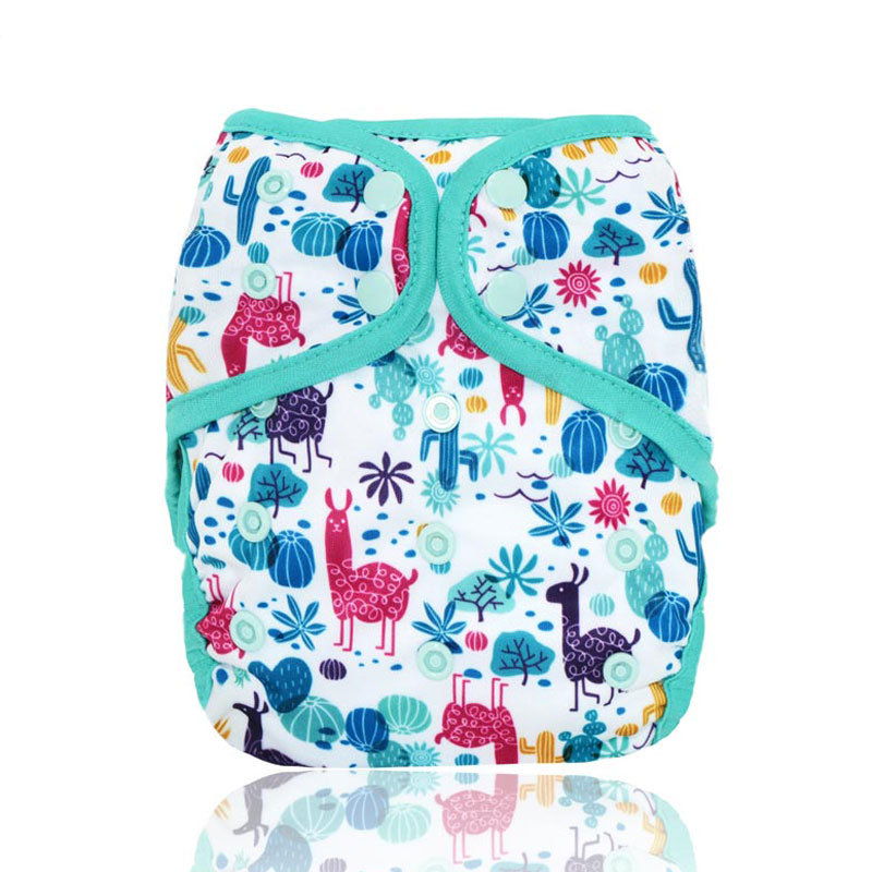 Miababy Onesize Cloth Diaper Cover Washable And Reusable, Fits Baby 3-15kg