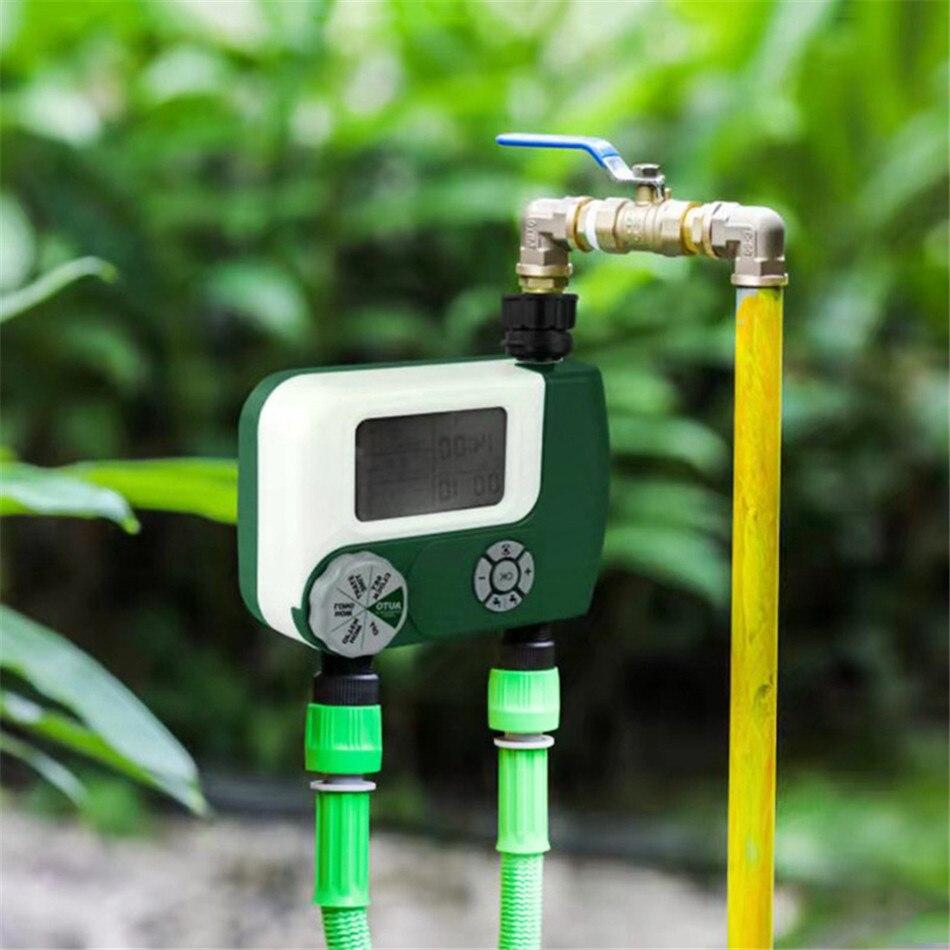 Dual Interface Bewässerung Timer Bewässerung Gerät Intelligente Großen Bildschirm Digital Display Timer Bewässerung Garten Controller System