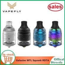 Newest Original vapefly Galaxies MTL Squonk RDTA Tank 2ml capacity Top filling/Bottom feeding huge vapor MTL TANK