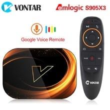 2020 VONTAR X3 4GB 128GB 8K TV BOX Android 9 Smart  Android TVBOX 9.0 Amlogic S905X3 Wifi 1080P 4K Set Top Box 4GB 64GB 32GB