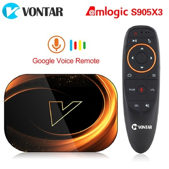 VONTAR X3 4GB 128 GB 8K TV BOX Android 9 խելացի Android TVBOX 9.0 Amlogic S905X3 WiFi 1080P 4K հավաքածուի վերին արկղ 4GB 64GB 32 GB