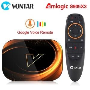 Image 1 - 2020 VONTAR X3 4GB 128GB 8K TV kutusu Android 9 akıllı Android TV kutusu 9.0 Amlogic S905X3 Wifi 1080P 4K Set üstü kutusu 4GB 64GB 32GB