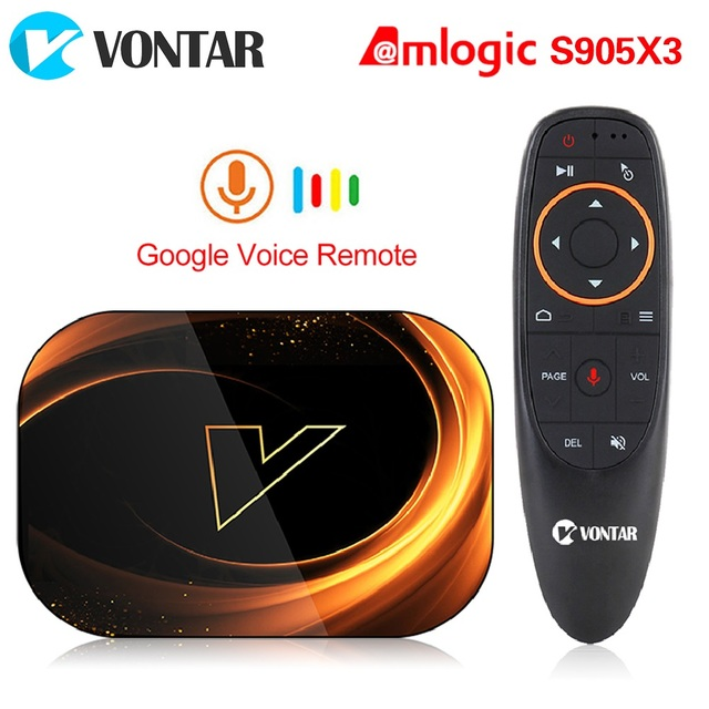 2020 VONTAR X3 4GB 128GB 8K TV kutusu Android 9 akıllı Android TV kutusu 9.0 Amlogic S905X3 Wifi 1080P 4K Set üstü kutusu 4GB 64GB 32GB
