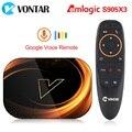 ТВ-приставка VONTAR X3 4 Гб 128 Гб 8K Android 9 Smart Android ТВ-приставка 9,0 Amlogic S905X3 Wifi 1080P BT 4K телеприставка 4 Гб 64 ГБ 32 ГБ
