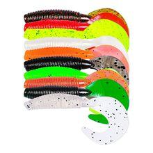 10 шт/упак 35 г/7 см для рыбалки свимбейт в форме червя головная