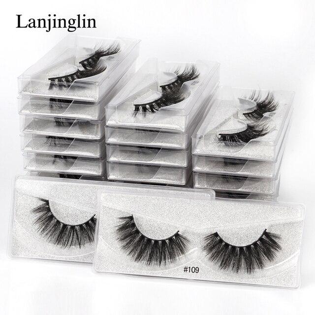 wholesale mink eyelashes bulk 4/20/100/200pcs natural false eye lashes fluffy wispy faux 3d lashes fake eyelash long soft 3