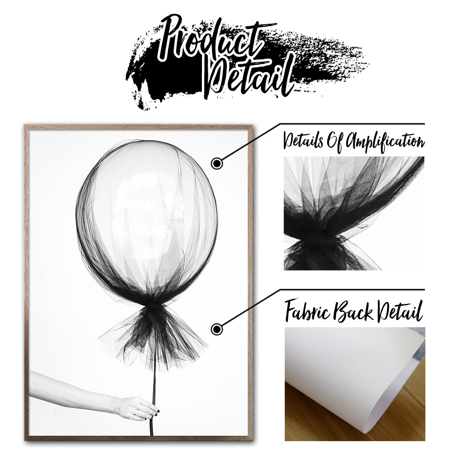 Black White Balloon Singing Boy Wall Art Canvas Painting Print Nordic Canvas Posters And Prints Wall Pictures For Living Room in Painting Calligraphy from Home Garden