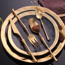 Набор столовых приборов из нержавеющей стали, набор золотых столовых приборов в западном стиле, столовые приборы, столовая посуда, рождественский подарок