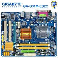 100% Original Motherboard for Gigabyte GA-G31M-ES2C DDR2 LGA 775 Solid-state Integrated G31M-ES2C Desktop Mainboard Used