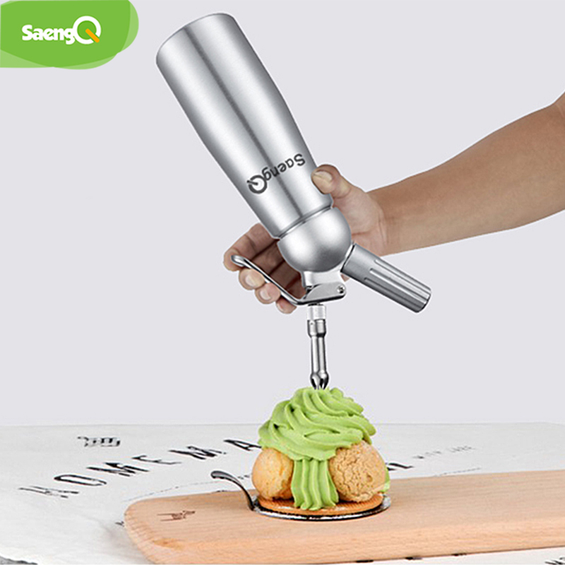 SaengQ New 500ml Aluminum Cream Whipper Foamer Cream Gun Soda Machine Cream Dispenser Whipper Cake Decorating Tools