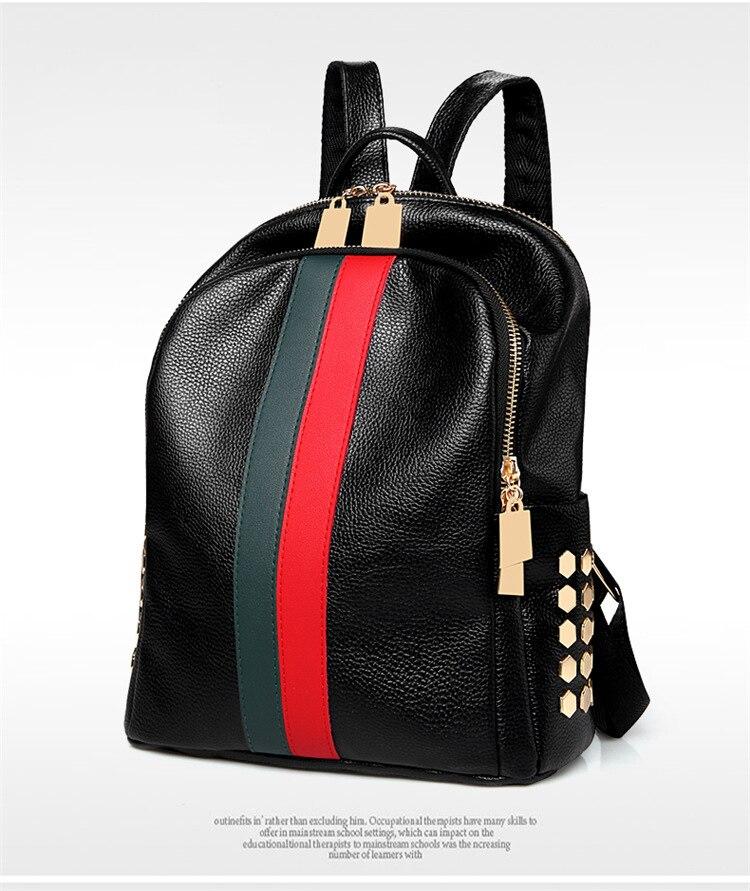 H7e339ac45cc943219a2f80628ccafb48H Luxury Famous Brand Designer Women PU Leather Backpack Female Casual Shoulders Bag Teenager School Bag Fashion Women's Bags