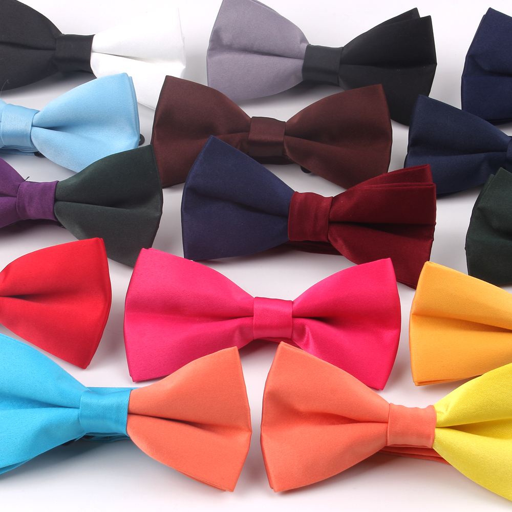 New Classic Solid Bow Ties Adjustable Tuxedo Mens Bow Tie Payckwork Bowtie For Men Women Yellow Tie For Business Wedding