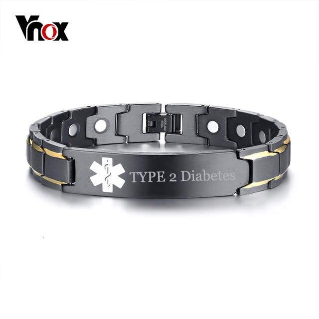 pulseras de alerta de diabetes para hombres