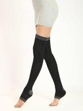 420D 80CM Womens Stockings Nylon Varicose Veins Compression Burn Fat Fit Slimming Beauty Leg Over the Knee High Socks Fingerless