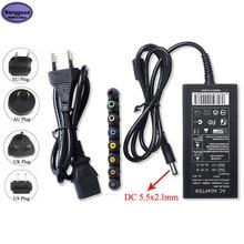 Uniwersalna ładowarka do laptopa 96W DC 12V/15V/16V/18V/19V/20V/24V regulowany Adapter do zasilacza ASUS DELL Lenovo Sony Toshiba