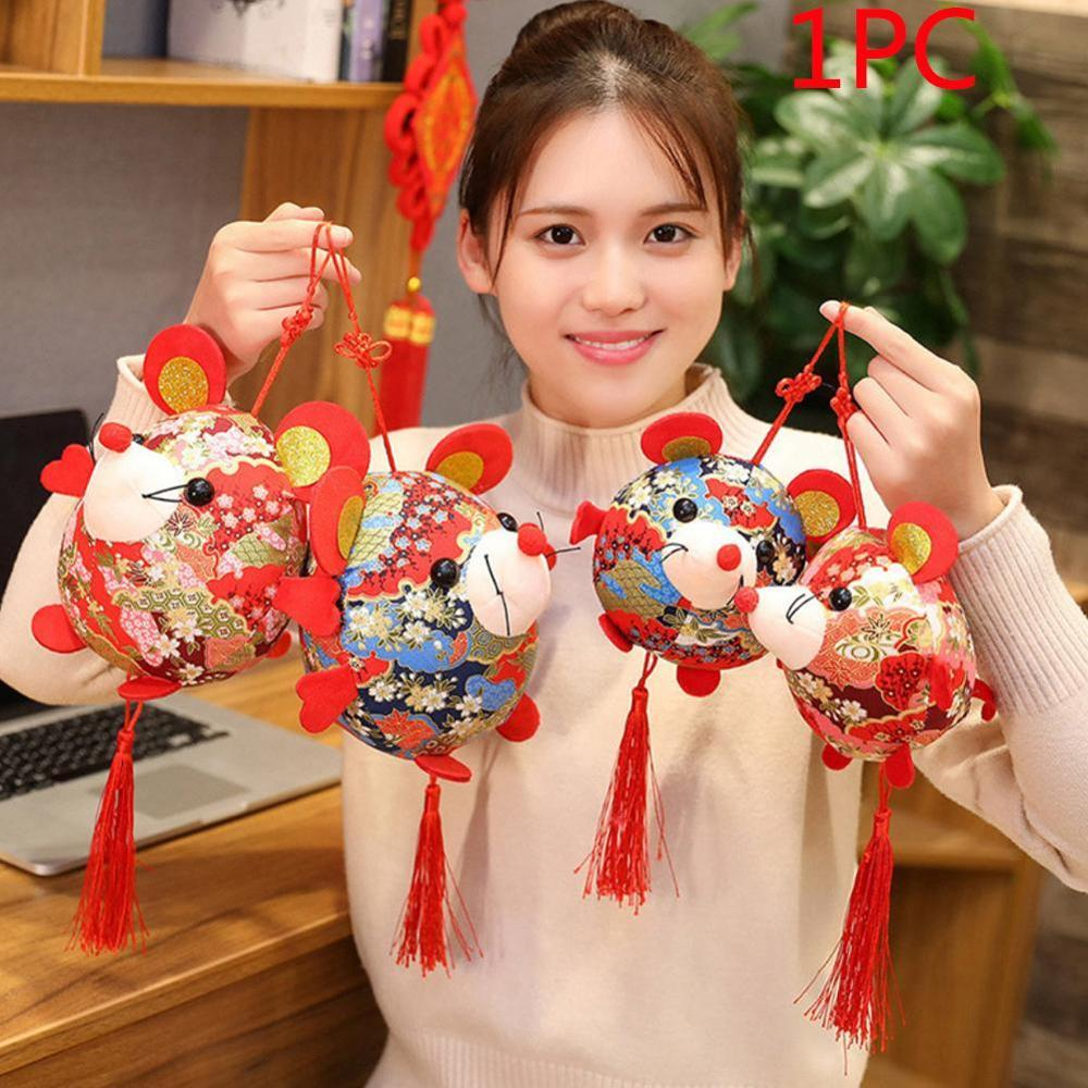 2020 New Year Plush Rat Year Mascot Toy Pendant Plush Red Mouse   Suit Soft Toys Chinese New Year Party Decoration Gift