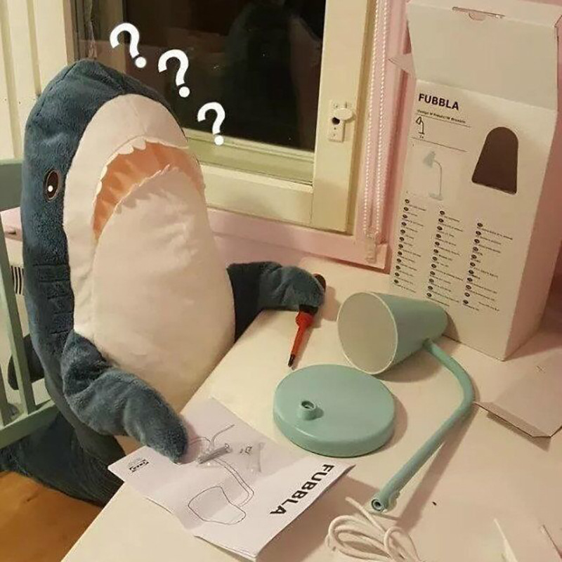 Hottest Plush Shark Toy Stuffed Shark Plush Toy Stuffed Pink Shark Plush Toy Children Gift Animal Reading Pillow